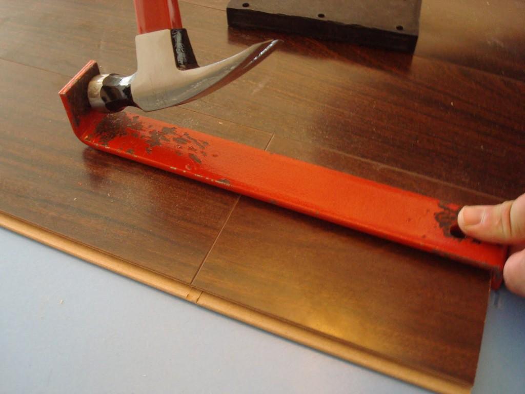 Укладка ламината на лестнице стандартным способом