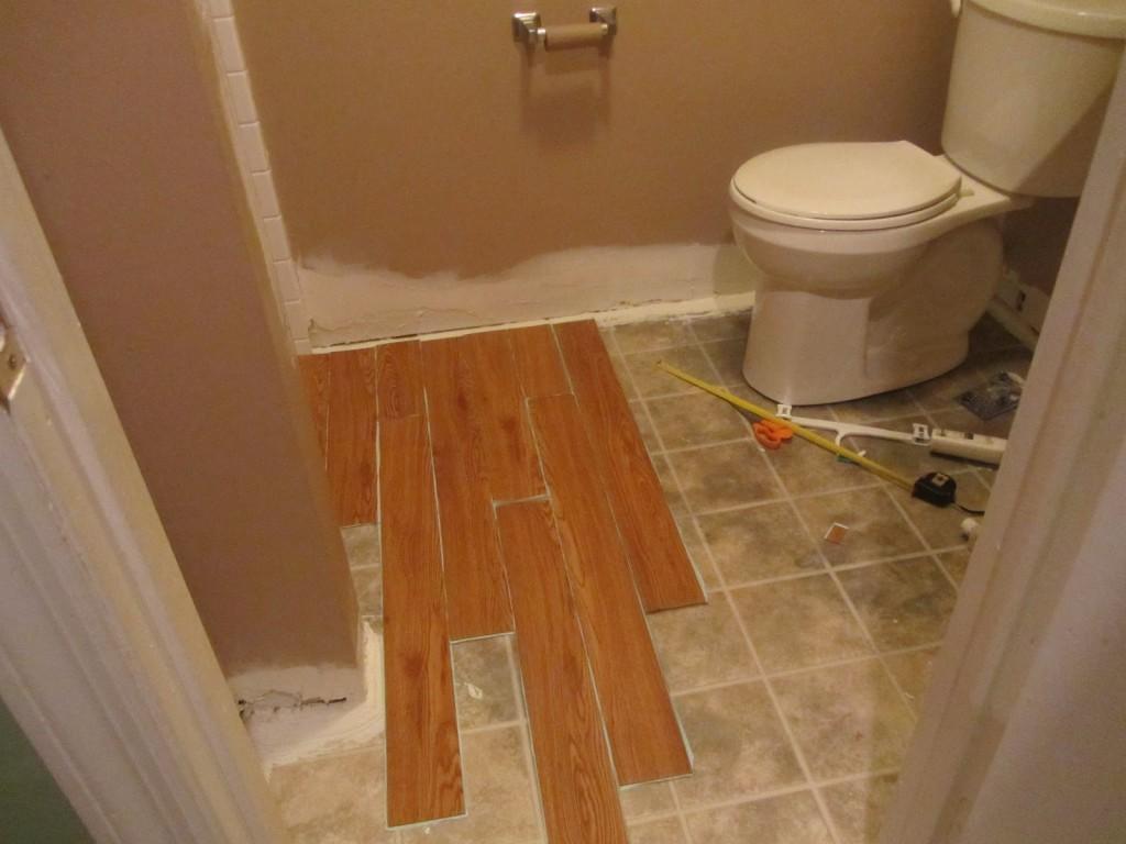 Ламинат для ванных комнат: укладка