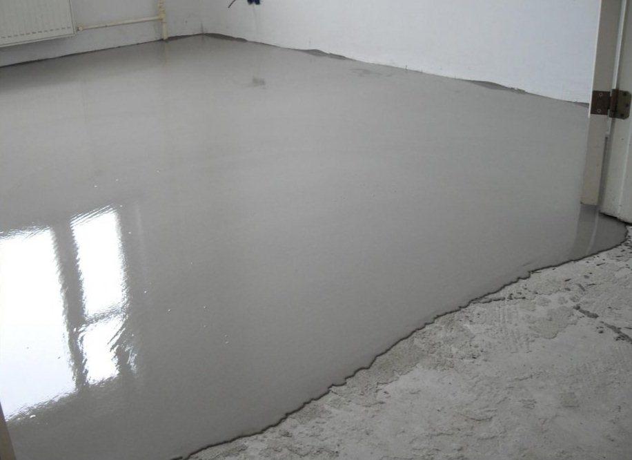 Заливка бетонного пола под ламинат
