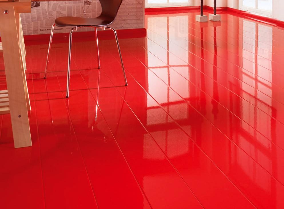 Красный глянцевый ламинат
